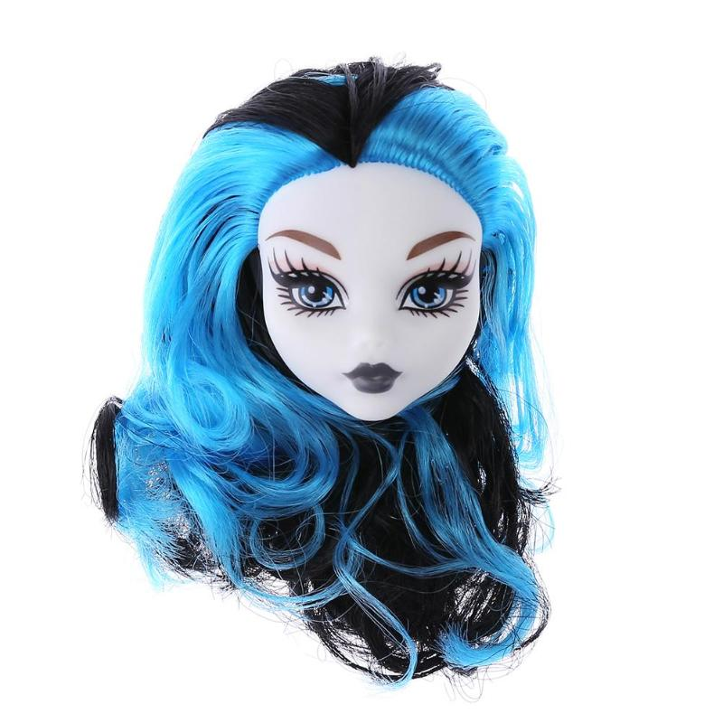 Girls Doll Heads Colorful Demon Monster Wig Hair Kids Toys Demon Monster Wig Hair Kids Doll Decoration Toys Accessories