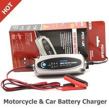 Foxsur 12 В мотоциклов и автомобилей Батарея Зарядное устройство, 12 В свинцово-кислотная Батарея Зарядное устройство для SLA, agm, гель, VRLA, Маринер-50 Smart Батарея Зарядное устройство