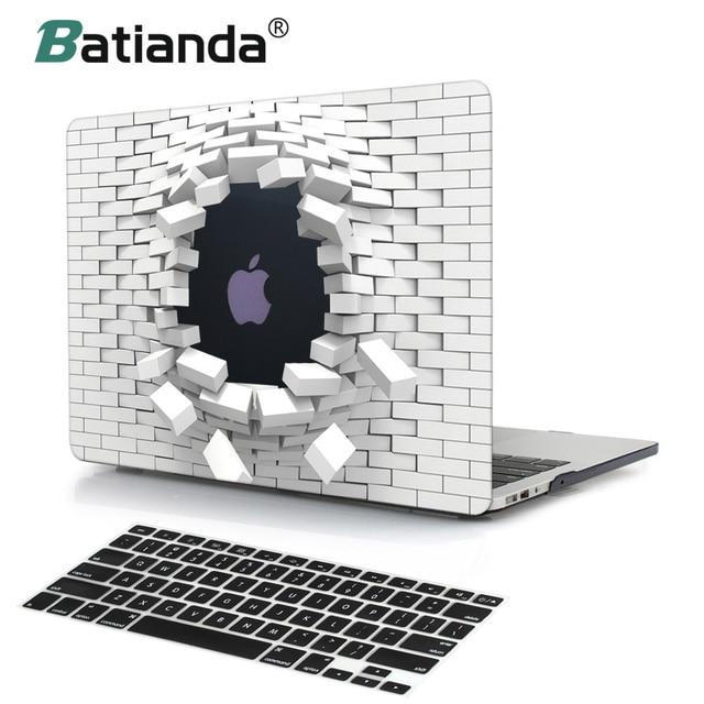 For Macbook air 11 13 12 Retina Pro 13 15 Touch Bar A1708 A1707 3D Print Brick Wall Plastic Hard Case For Macbook Air 13 2018