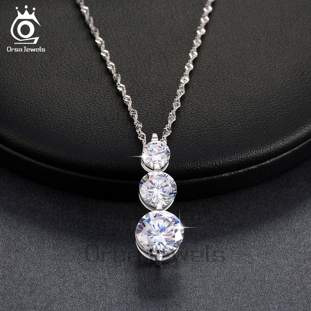 Orsa jewels luxury 3 pieces clear cubic zirconia pendant necklaces orsa jewels luxury 3 pieces clear cubic zirconia pendant necklaces 2017 new fashion sparkling elegant jewelry aloadofball Gallery