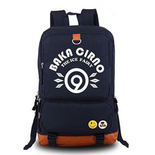 Touhou Project Cirno Print Cosplay Unisex Boys Girls Fluorescent Canvas Backpack  Fashion Rucksack School Shoulder Bag