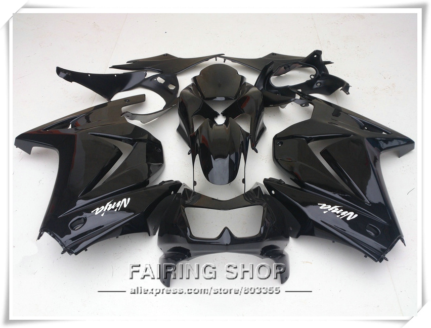 250r 2008 2014 Fairing kit For Kawasaki Ninja All black ( EMS Free ) zx250r 08 14 Fairings S108