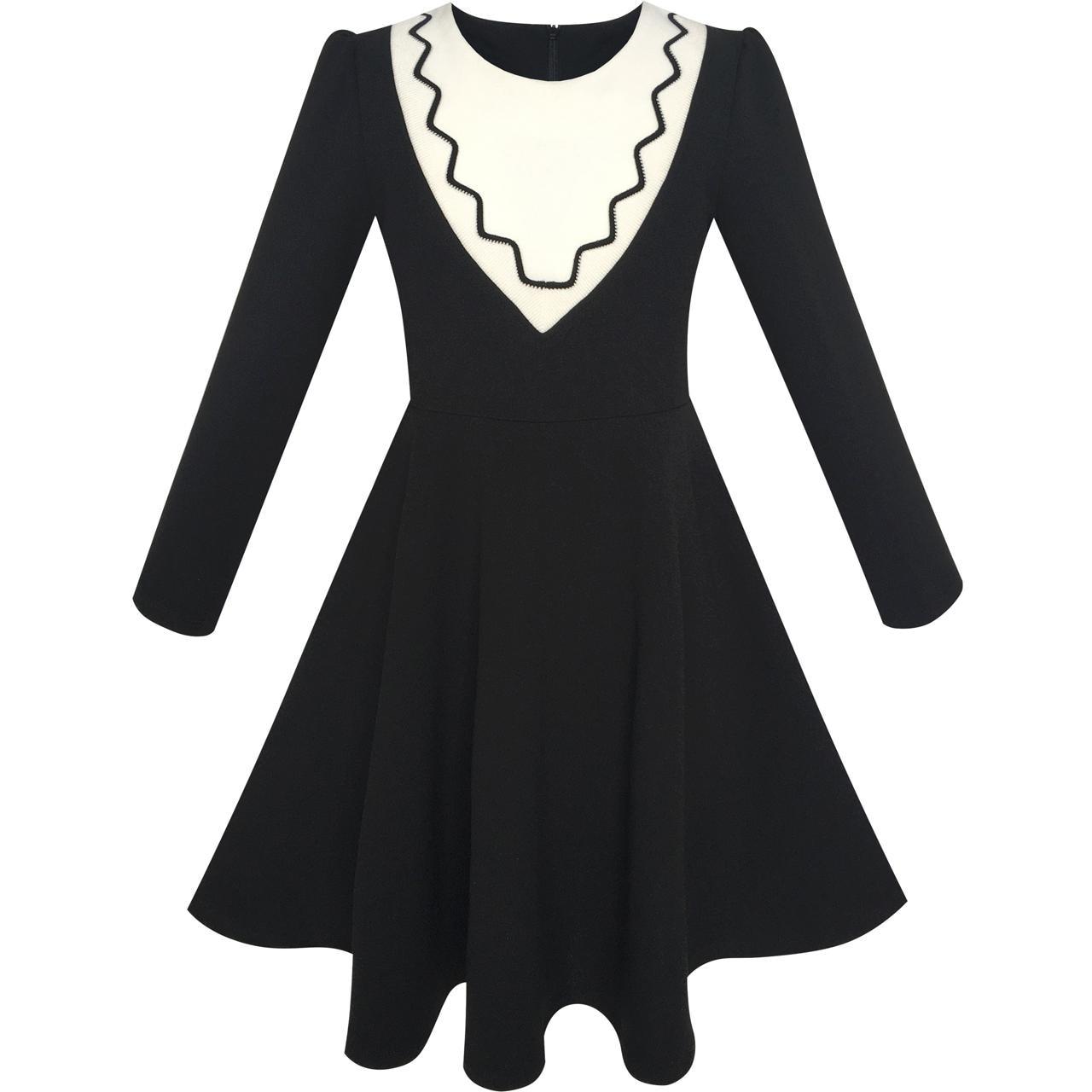Black dress long sleeve uniform