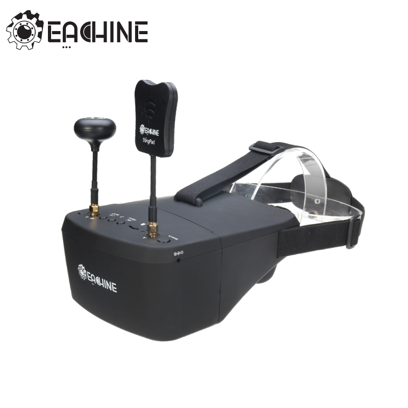 Auf Lager!! Eachine EV800D 5,8G 40CH 5 Zoll 800*480 Video Headset HD DVR Vielfalt FPV Schutzbrillen Mit Batterie Für RC Modell