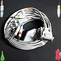 Compatible with Schiller/Del mar/Bionet EKG monitor the ECG/EKG 10 lead cable,3.0/4.0/clip/snap Electrode leadwire, IEC or AHA.