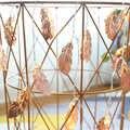 100 LED Rose or métal plume à piles guirlandes lumineuses 10 m LED décoration pour noël guirlande sur la fenêtre nouvel an