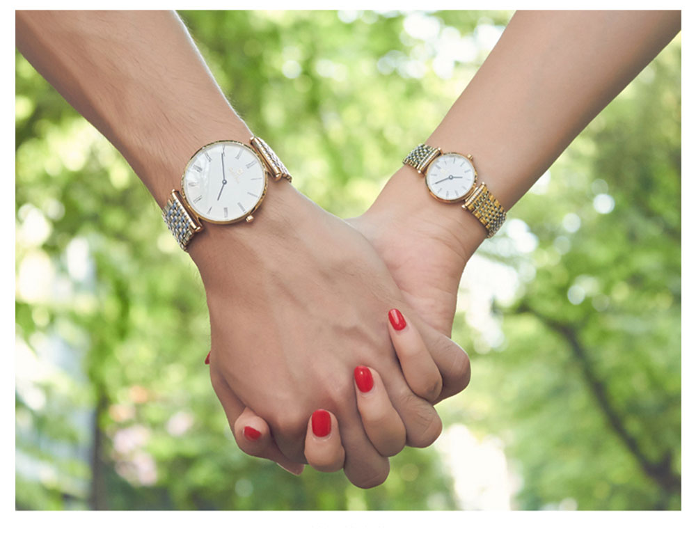 Pequeno Relógio De Quartzo Homem E Mulher Relógios À Prova D' Água