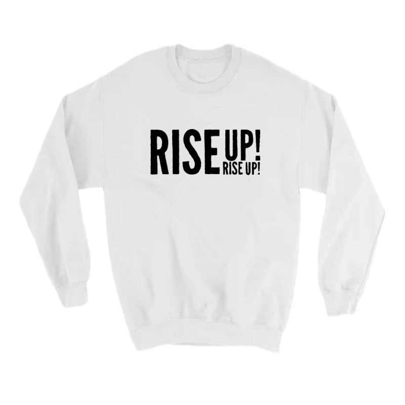 Hamilton Musical Rise Up Slogan sweat Streetwear mode haut pour femme automne hiver sweat shirts en molleton à col rond