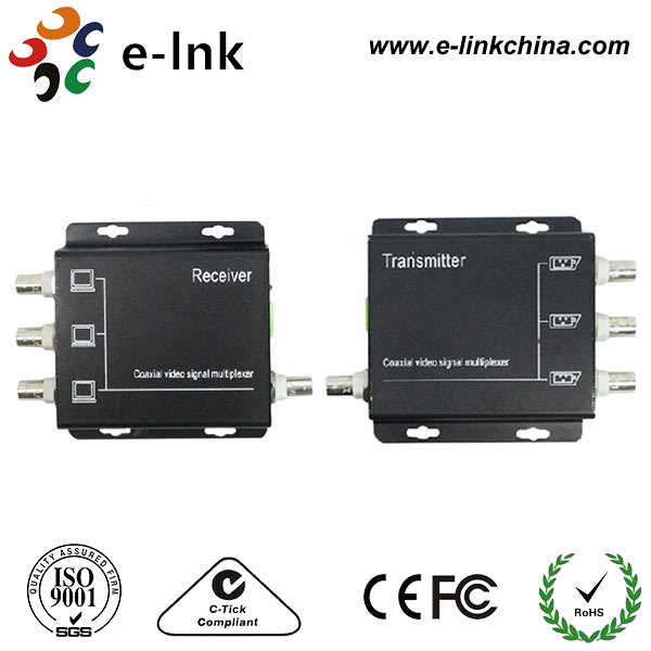 3 Channel analog video multiplexer/Coaxial video transmitter/CCTV multiplexer by coaxial