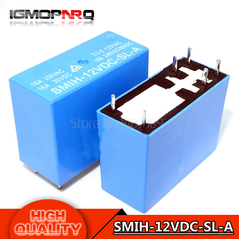 10PCS free shipping 100% new original new song Le automobile relay SMIH-12VDC-SL-C 16A/8 foot /12V