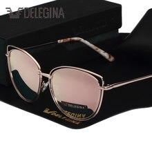107e185334 Gafas de sol polarizadas estilo Ojo de gato grande diseño para mujer gafas  de sol polarizadas para chicas espejo con funda