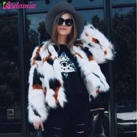 Good Quality Luxury Imitate Fox Fur Coat Thick Warm Winter Outwear Fashion White Furry Jacket And Coat Women Faux Fur Coat Femme
