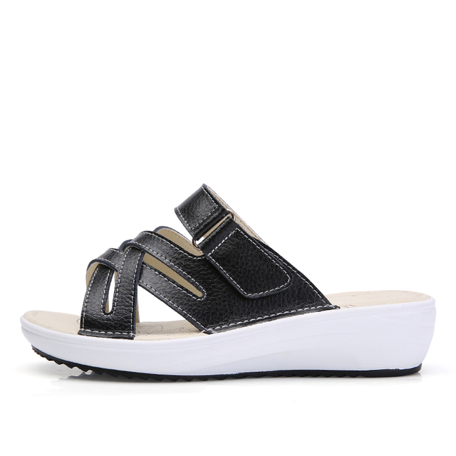 49f2998f0ca1d נעלי בית - STQ 2018 Summer women slippers slip on round toe flat ...