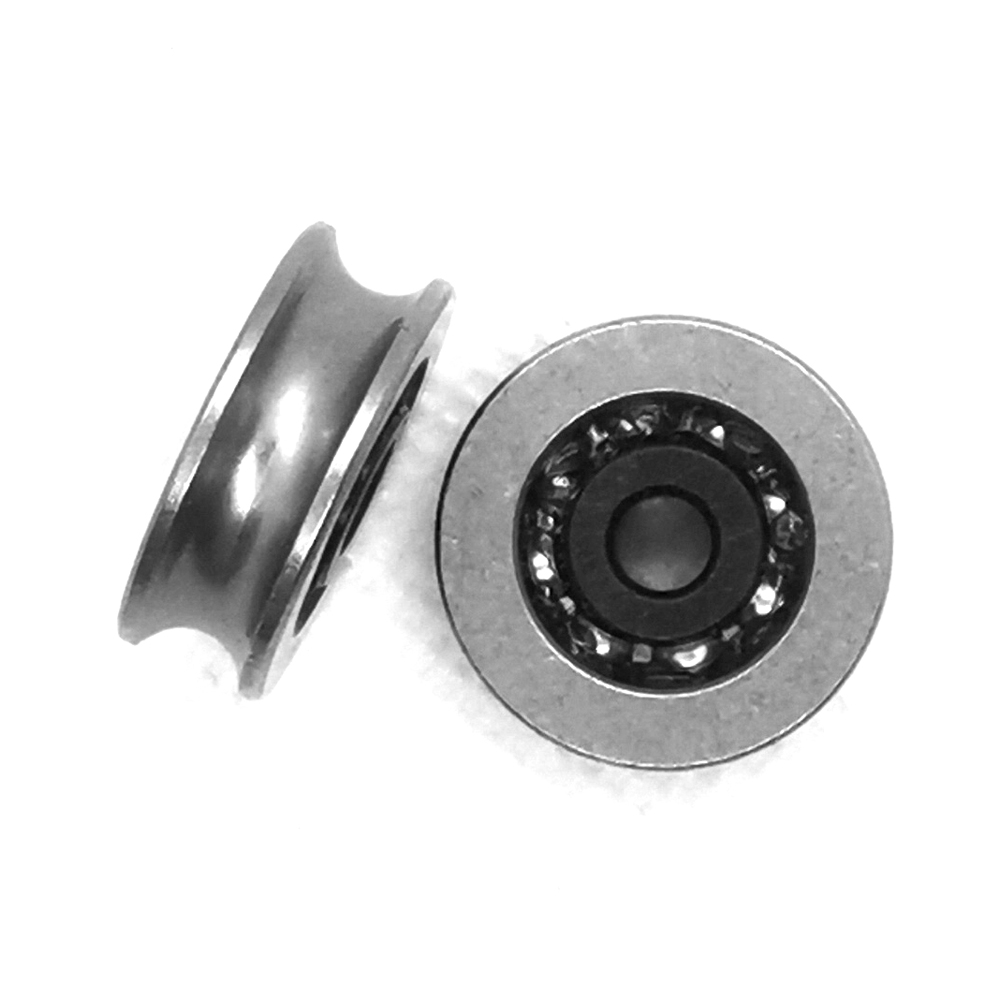 2pcs 19.5mm 20 U Groove 440C Stainless Steel Wire Rope Roller H Slide Guide Door Window Silent Bearing Small Wheel Pulley