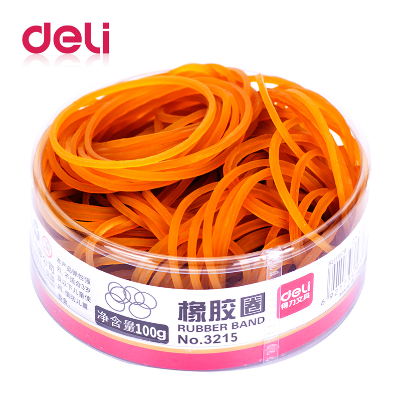 Deli 1pcs Rubber Bands latex loop band Stationery Holder Desk Accessories Shop Paper Holder Stationery Office Supplies