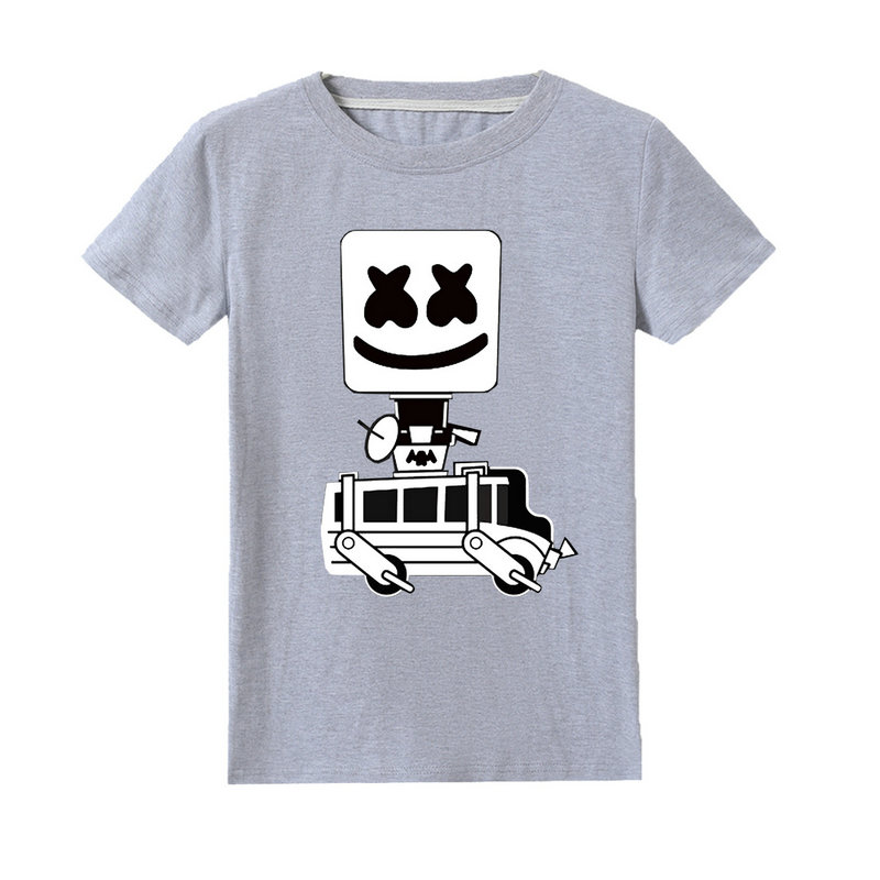 Children DJ Marshmello Cartoon Printed Hoodie Kids Cute Outdoor Sweatshirt Breathable Long Sleeve Top 100/% Cotton for Boys Girls Teens from 3 to 12 Years