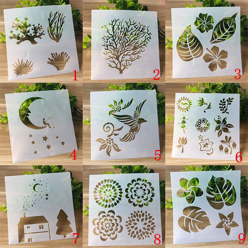 1pc Hot Sale Trees PET DIY Drawing Template Ruler Promotional Gift Stationery School Supplies Xmas Gift Multi Ruler