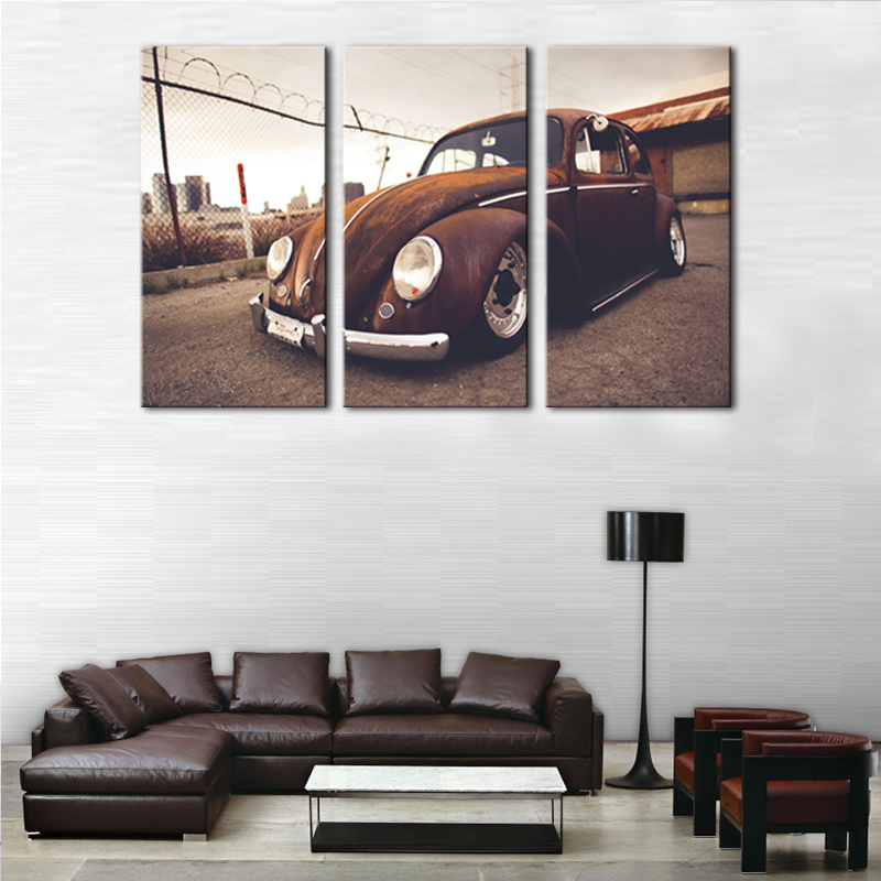 Nicoleshenting Vw Bus Classic Car Art Silk Poster Print 13x20 24x36