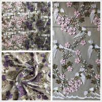 Broderie rose Tulle français dentelle Net lacets tissu avec pierres et perles africain français maille dentelle pour fête de mariage