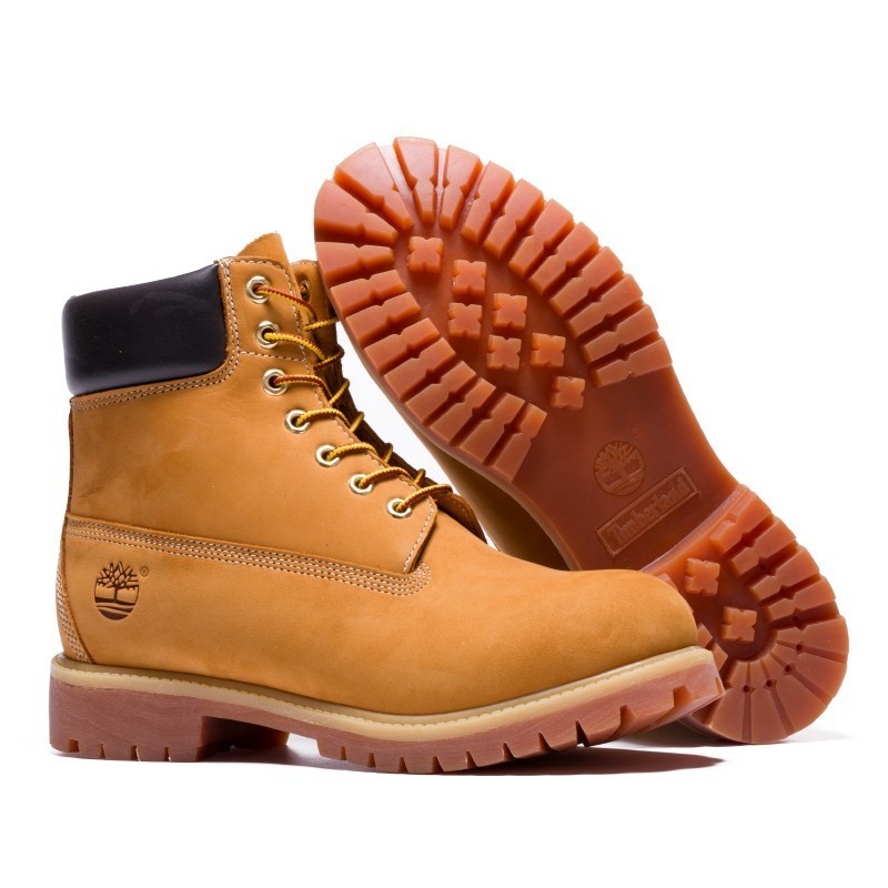 TIMBERLAND Classic Men's 6-Inch Premium Waterproof Boots For Men Male Nubuck Genuine Leather Ankle Wheat Yellow Shoes 10061 2