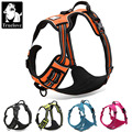 Truelove gama delantera reflectante de nylon large pet dog harness all weather acolchado ajustable seguridad vehicular lleva a los perros mascotas