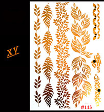 Gold Tattoo Stickers Glitter Tatoo Inspired Gold Silver Metallic Stickers TattooTemporary Tattoo Flash Tattoos Jewelry
