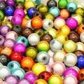 6 MM 500 Unids/pack Especial Mágico Colorido de Acrílico Plástico Del Grano Granos de La Joyería