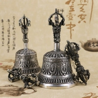 Handcrafted Tibetan Meditation Singing Bell With Dorje Vajra Practice Tool 9cm