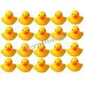 20 Pcs amarelo bebê crianças crianças Toy Bath bonito raça Rubber Duck Squeaky Ducky