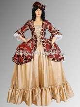 Custom Made Red & Gold Renaissance Baroque or Medieval Dress Gown