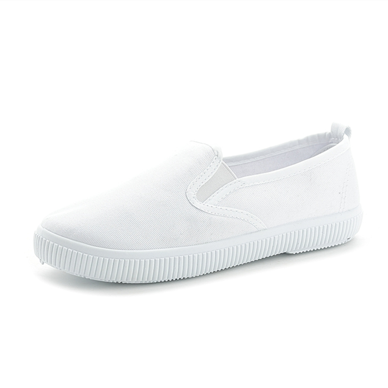 Spring light canvas shoes women shoes slip-on Korean tide students set foot pedal flat Elastic band white shoes 2016 spring autumn europe china style new tide men canvas casual shoes blue black letters print sewing elastic band flat shoes