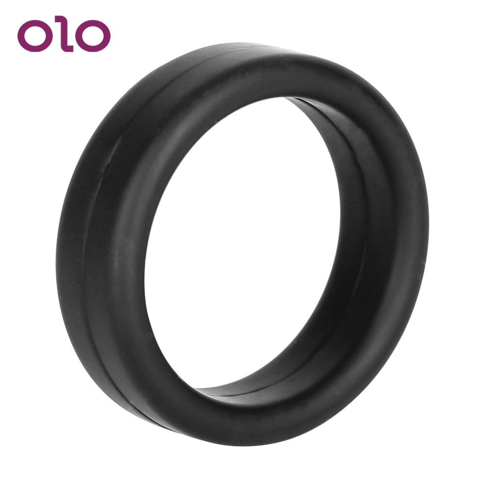 OLO Cock Ring Male Masturbator Elastic Dildo Extender Sex Toys For Men Penis Ring Delay Ejaculation