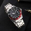 Gonewa masculino moda negócios relógios militar aço inoxidável data esporte quartzo analógico unisex relógio de pulso relogio