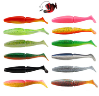 Esfishing Easy Shiner Shad 125mm 40pcs Fishing Lures Soft Baits Fishing Tackle Fake fish Plastic Lures Sea River