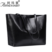 2017 Genuine leather Bags fashion messenger women leather handbags simple shoulder women bag large capacity messenger bag BBH804