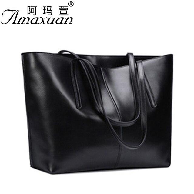 2017 Genuine leather Bags fashion messenger women leather handbags simple shoulder women bag large capacity messenger bag BBH804