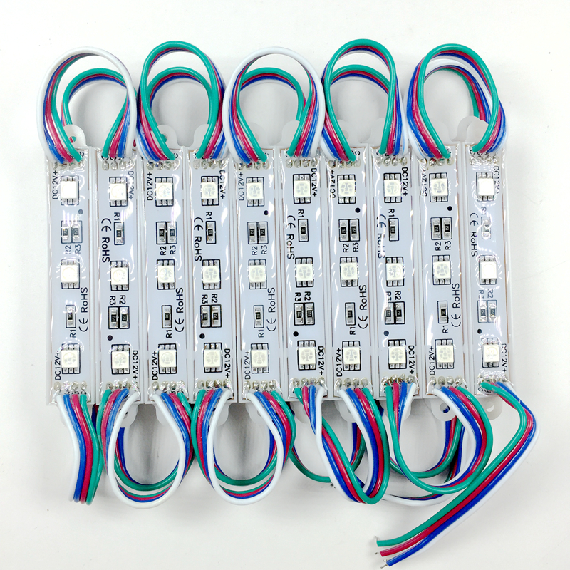 Wholesale 1000pcs DC12V SMD 5050 3LEDs RGB LED Module IP65 waterproof LED Lighting for Signage