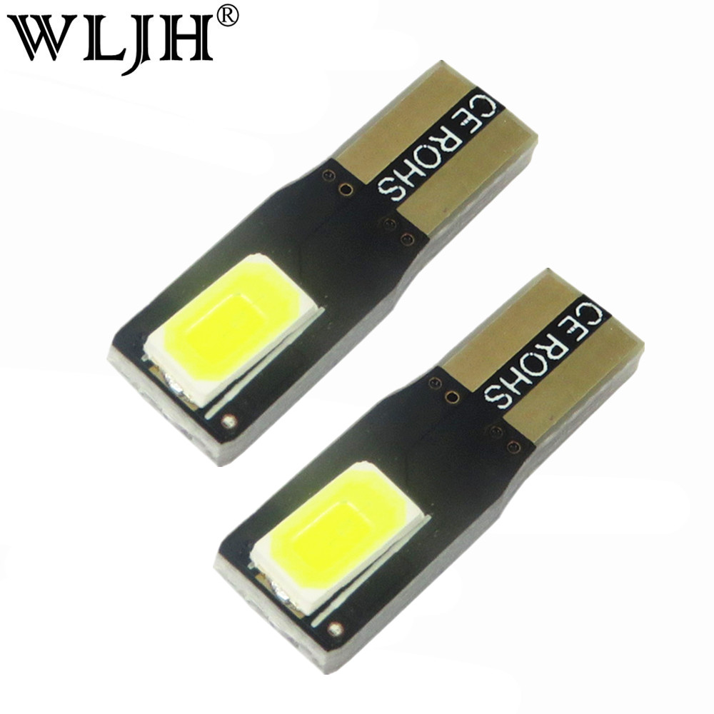 WLJH 10x Led T5 2721 W3W W2*4.6d 5630 SMD Wedge Instrument Indicator Light Speedometer Gauge Cluster Lamp Dash Light 10-15VDC