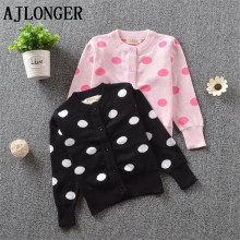 Autumn Winter Baby Girls Sweater Dot Cute Sweaters Knitwear Children Clothes Kids Spring Outerwear