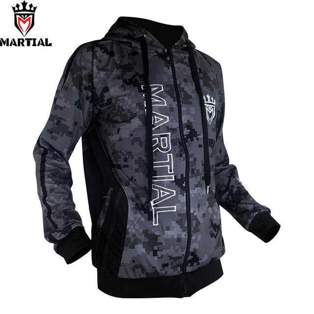Martial :Fitness YKK zipper long sleeve  hoodies bjj/mma  trainning  sweater jogger fleece  sweatshirts men 1