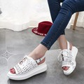 Punched Women Casual Shoes Personality Shoes Woman Flats Soft Leather Shoes Woman 2016 Plain China Pu Preppy Style Young Girl