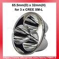 65,5 мм (D) x 32 мм (H) SMO алюминиевый отражатель для 3 x Cree XM-L