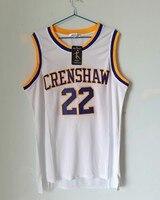 LIANZEXIN Quincy McCall 22 Jersey Movie Basketball Crenshaw Jerseys High School White Basketball Jersey For Men