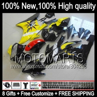 Body Body For YAMAHA YZFR6 Yellow Black 06 07 YZF 600 YZF R 6 YZF600 JK966