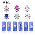 10 pcs Glitter Cristal Rhinestone 3d Liga de Metal Decorações Nail Art DIY Prego Charme Jóias Gemas em Unhas Salão de Beleza Suprimentos