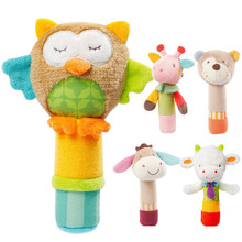 Bell Rattle Baby Toys Mobiles 0-12-Months Bedroom Animal-Hand Plush Toddler Soft Cute