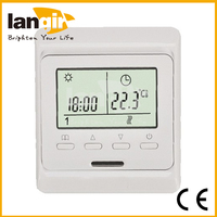 Weekly Programmable Touch Screen Floor Heating LCD Display Thermostat Room Temperature Controller Thermometer Free Shipping