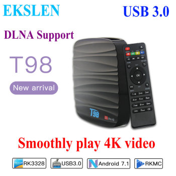EKSLEN T98 Android 7.1 TV Box Mini Box TV Amlogic S905X 1+8G 2+16G DLNA Support 2.4GHz WiFi HD 4K 1080P Media Player Set top Box фото