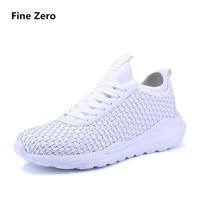 Fine Zero Men Plus Size 47 Casual Shoe Light Basket Woven Femme Flats Tenis Feminino