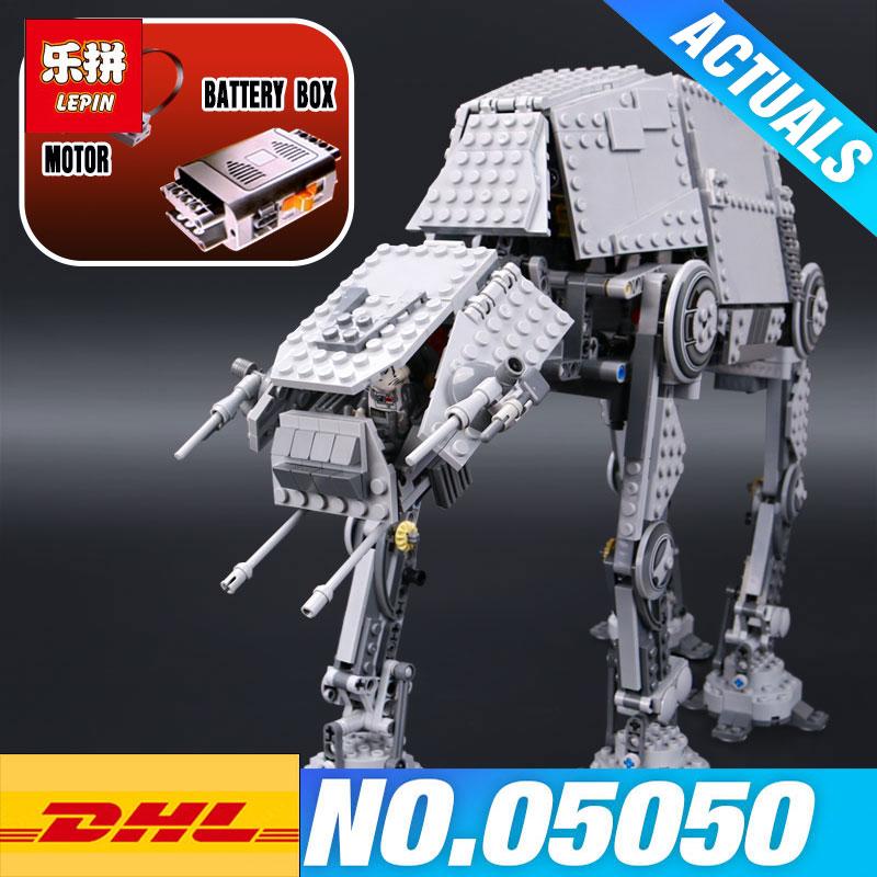 LEPIN 05050 05130 Star plan Plan 75054 AT Model AT the robot The First Order Heavy Assault Walker Toys Building Block Brick Gift